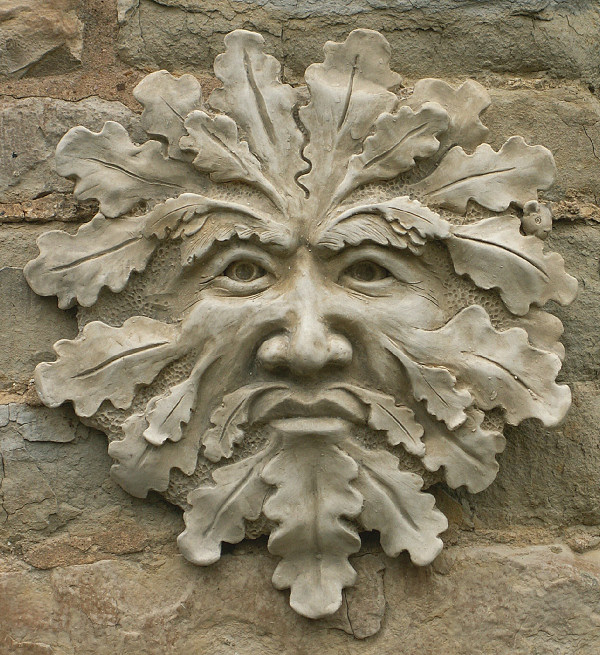 The green man is ironically not green.